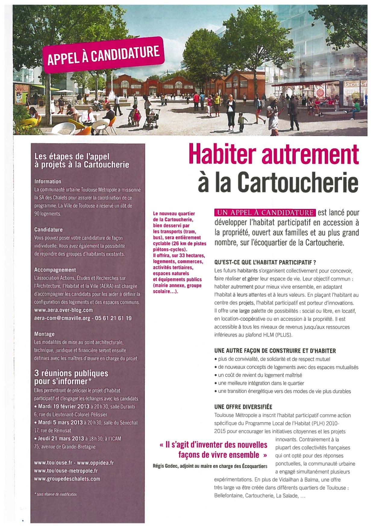 Lancement de l'appel à projet - A Toulouse